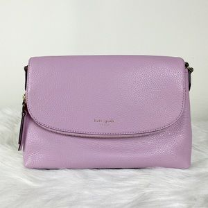 Kate Spade Polly ORCHID Large Flap Crossbody Bag
